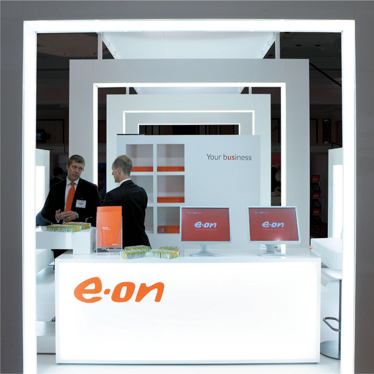 E.ON B2B Exhibition stand Header